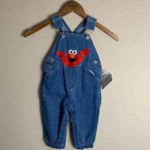 Vintage Sesame Street Elmo Overalls Size 12 Months